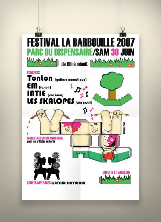 Paperboy pour le festival «la barbouille» 2007