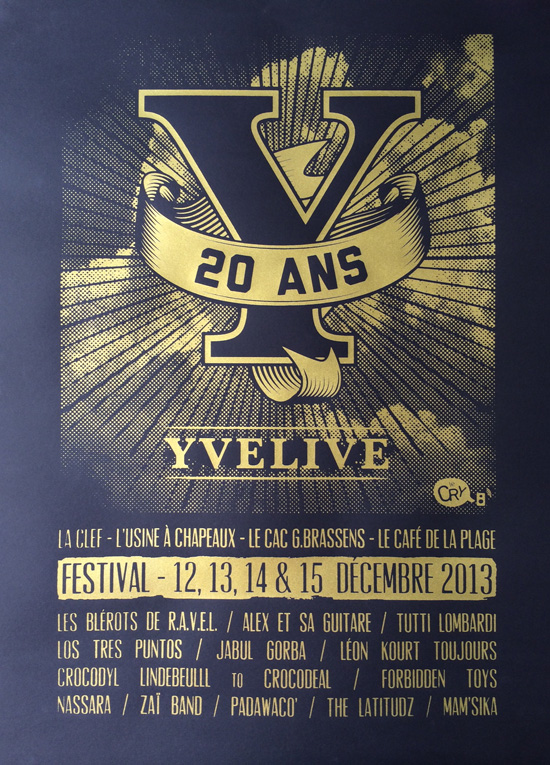 Affiche 20 ans d'Yvelive